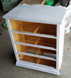 After 1st coat of white